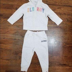 Gap Girl Logo Hoodie Sweatshirt & Pants